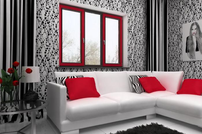Яркое окно придаст экстерьеру эксклюзивности и поможет гармонизировать внутреннее пространство.