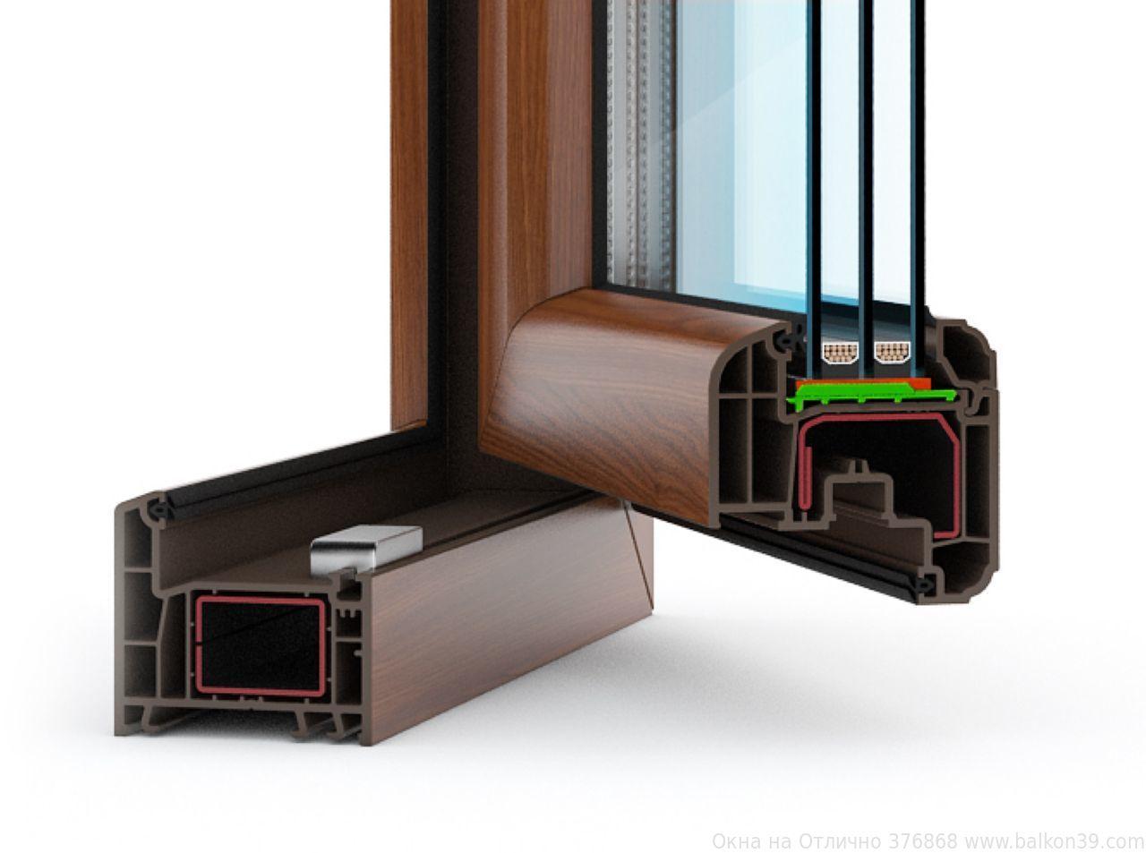 Окна ПВХ, окрашенные в массе «под дерево», выглядят так, словно они выполнены из натурального дерева!