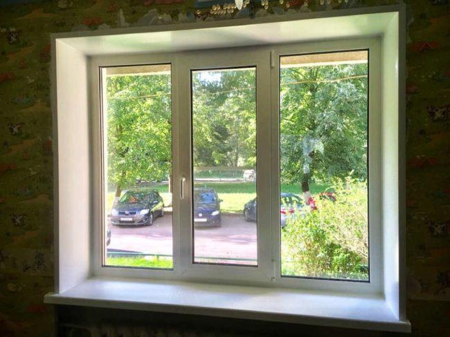 Установили окна в квартире многоэтажного дома - 4 окна.