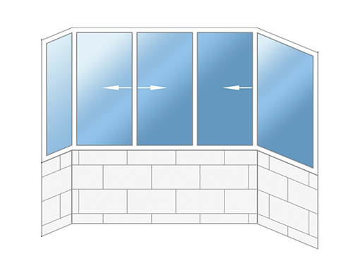 Маленькие балконы П-3