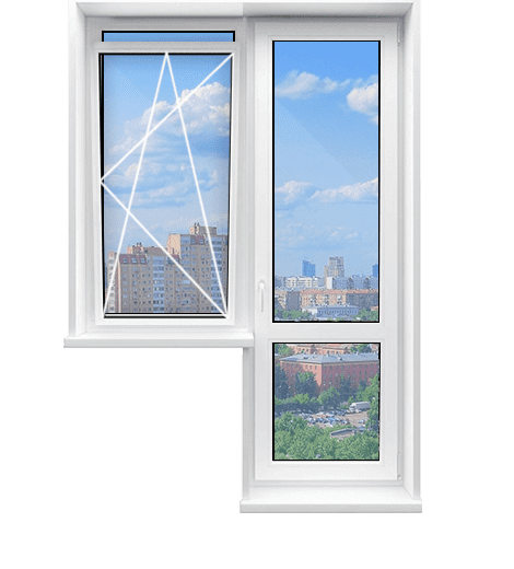 С откидным окном