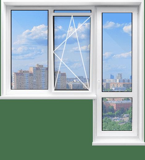 С глухим и откидным окном